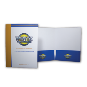 9 inch x 12 inch presentation folder with pockets