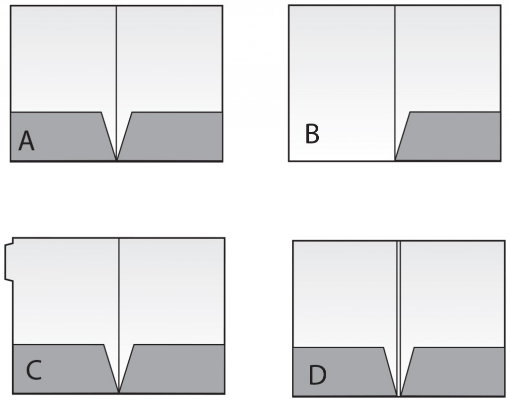templates for presentation folders A, B, C, D