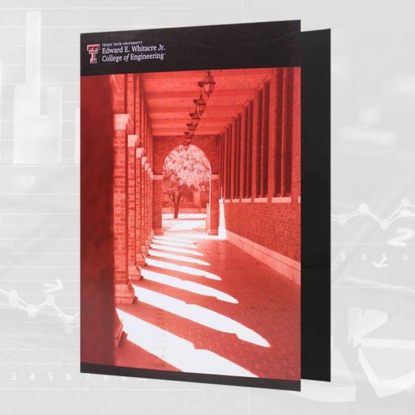 Presentation folder with full-color printing, 1-side gloss aqueous coating