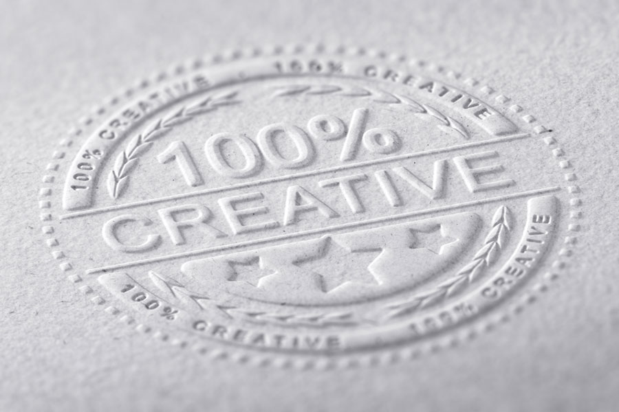 Folders Unlimited offers embossing and/or debossing for your presentation folders