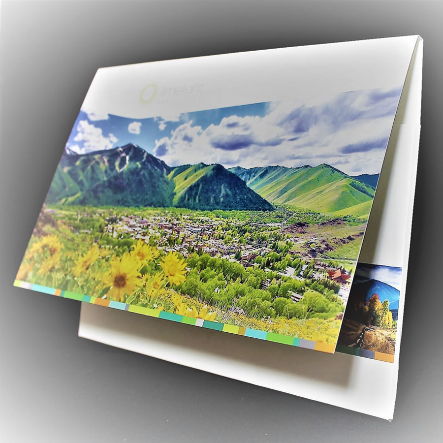 12 x 9 Landscape Capacity Folder with Pouch