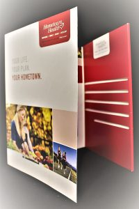 3 Panel Capacity Folder with Brochure Slots