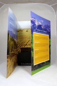 3 Panel Design Presentation Folder with Pocket