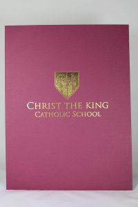 9x12 Folder in Burgundy Linen with Foil Design.jpg