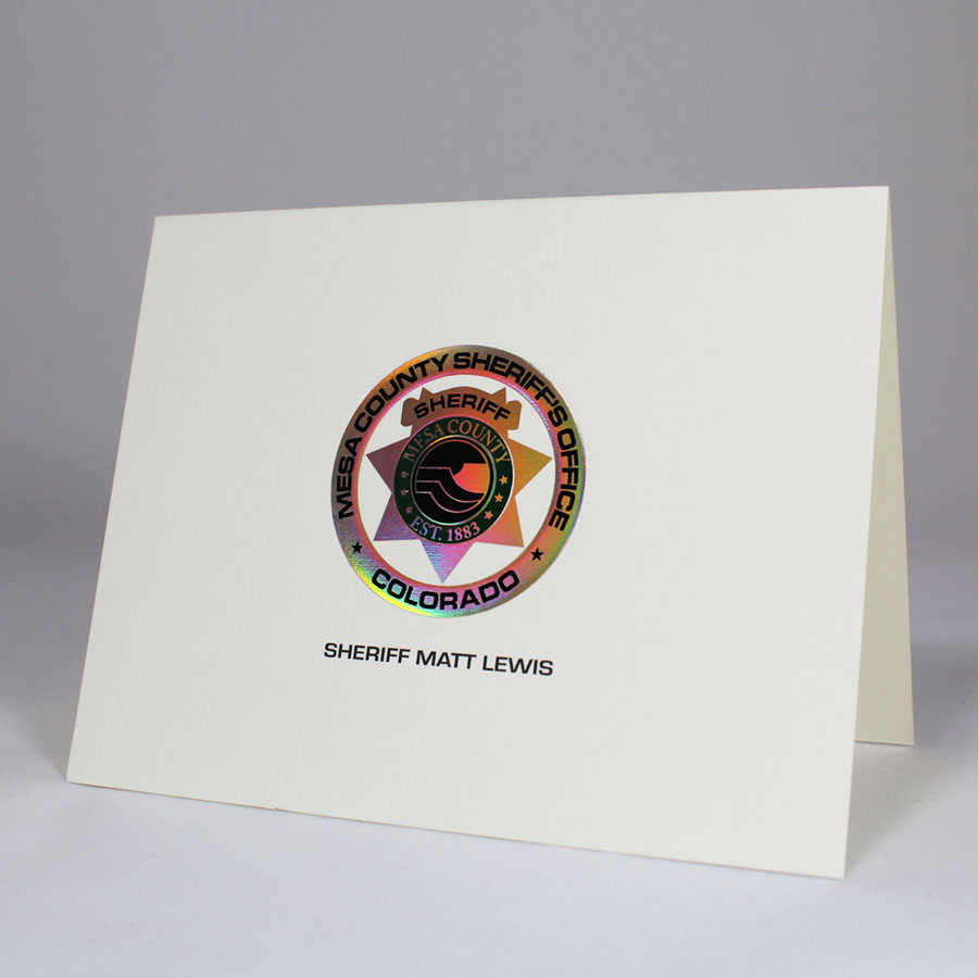 Note Card with 3 Colors of Foil and Emboss