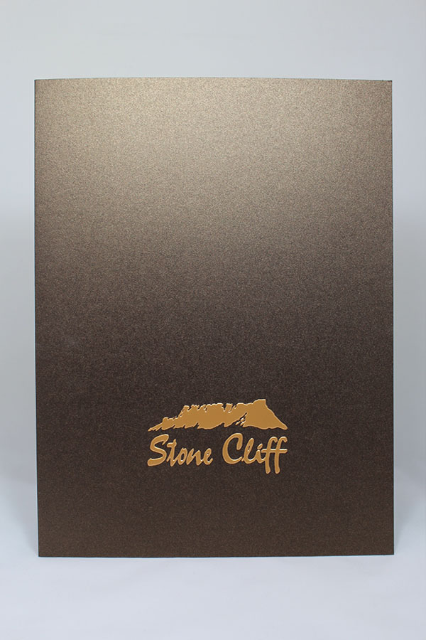 Presentation Folder with Foil and Emboss