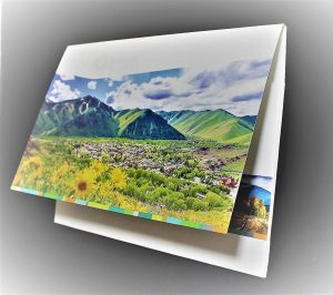 Custom landscape presentation folder, double scored