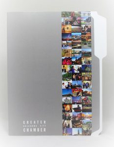 9 x 12 presentation folder with tab, C1S