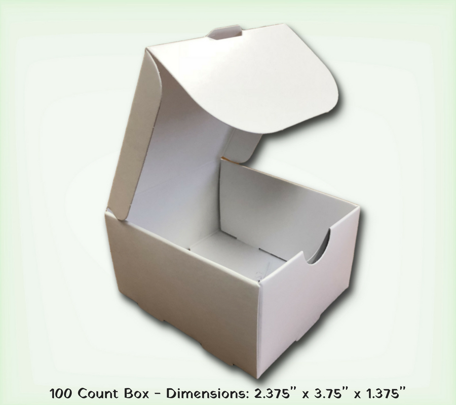 Business card boxes 100 count folders unlimited business card boxes 100 count reheart Image collections
